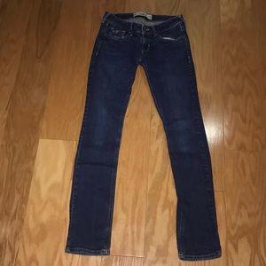 Hollister medium/dark wash skinny jeans, Size 0S